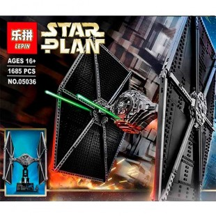 Конструктор LEPIN 05036 «Истребитель TIE Fighter»